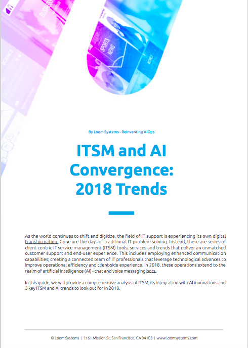 ITSM and AI Convergence: 2018 Trends