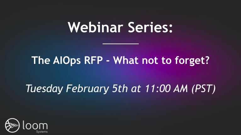 The AIOps RFP - What Not to Forget?