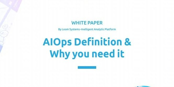 AIOps definition whitepaper