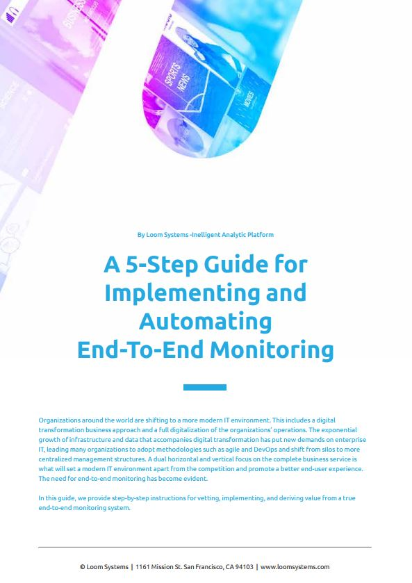 A 5-Step Guide For Implementing End-To-End Monitoring